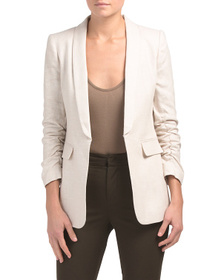 TAHARI BY ASL Petite Linen Tailored Suit Jacket