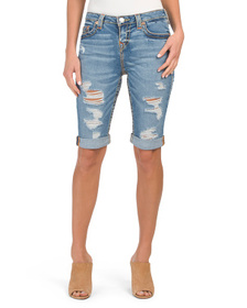 TRUE RELIGION Riley Destructed Bermuda Shorts