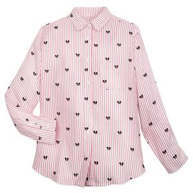 Disney Mickey Mouse Ear Hat Striped Shirt for Adul
