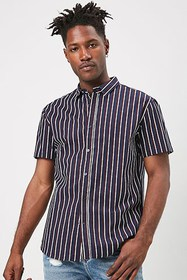 Forever21 Striped Fitted Shirt