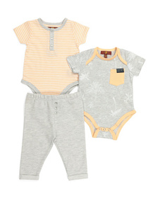 7 FOR ALL MANKIND Baby Boys 3pc Bodysuit Pant Set