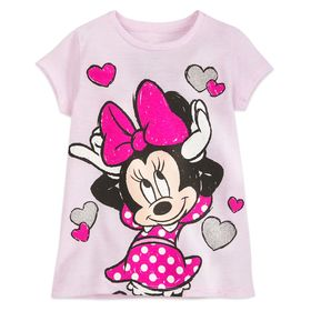 Disney Minnie Mouse Hearts T-Shirt for Girls