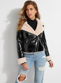 Claudia Faux-Leather Jacket