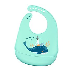 Soft Bib Baby Infant Cute Silicone Waterproof Lunc on sale at Walmart