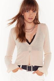 Nasty Gal Stone Right Sheer Waiting Button-Down Ca