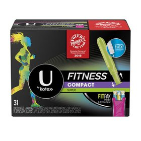 U by Kotex Fitness Tampons with FITPAK, Super Abso