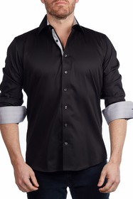 Levinas Solid Contemporary Fit Shirt