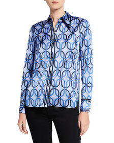 Elie Tahari Naz Collared Blouse