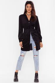 Nasty Gal Black Want the Belt for You Corduroy Lon