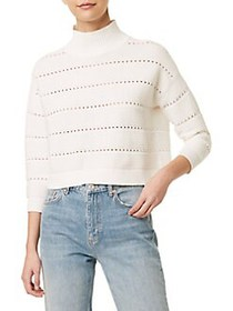 French Connection Lilya Knit Sweater WHITE
