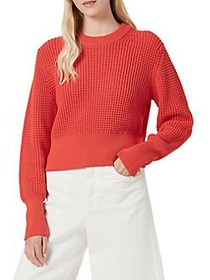 French Connection Luna Mozart Waffle-Knit Cotton S