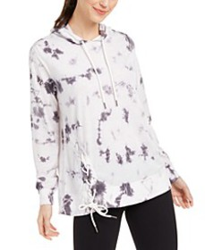 Tie-Dyed Side-Lace Hoodie, Created For Macy's