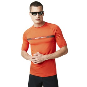 Oakley Camou Stripe Logo Rashguard - Fire Red