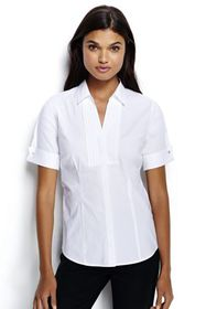 Lands End Women's Plus Size Short Sleeve French Cu