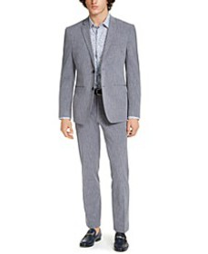 Men's Premium Slim-Fit Stretch Textured Grid Tech