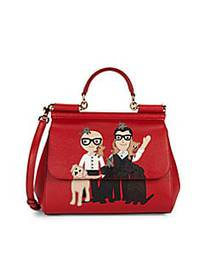 Dolce & Gabbana D&G Family-Print Leather Satchel R
