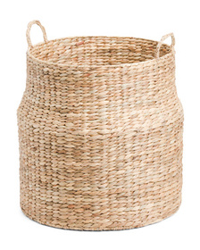 RGI HOME Large Hyacinth Round Basket With Handles
