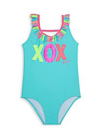 Betsey Johnson Girl's Sequin-Embellished One-Piece