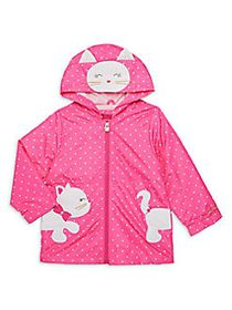 London Fog Little Girl's Embroidered Kitty Jacket