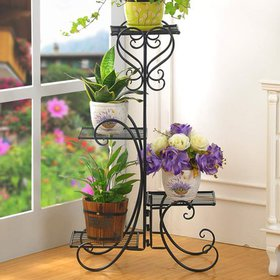 Zimtown 4-Tier 4 Potted Square Flower Display Shel