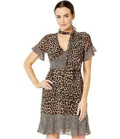 MICHAEL Michael Kors Mega Cheetah Tie Dress