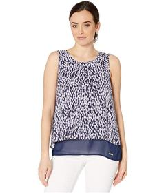 MICHAEL Michael Kors Ikat Sleeveless Cut Out Top