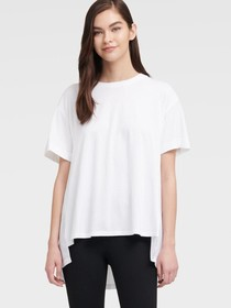 Donna Karan HI-LOW TOP WITH PLEATED BACK