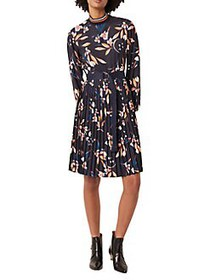 French Connection Elvia Moody Floral-Print Belted