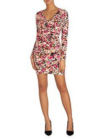 Guess Long-Sleeve Floral Bodycon Dress MULTI
