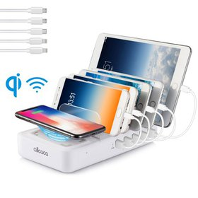 5-Port USB Charging Station for Multiple Devices,