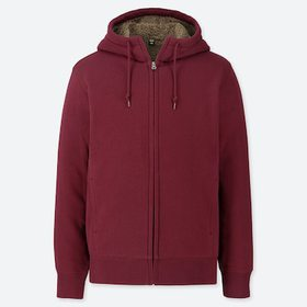 Men Pile-Lined Sweat Long-Sleeve Full-Zip Hoodie,