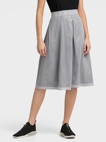 Donna Karan SKIRT WITH MESH OVERLAY
