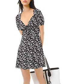 MICHAEL Michael Kors - Printed Tie-Front Dress