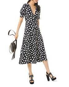 MICHAEL Michael Kors - Printed V-Neck Midi Dress