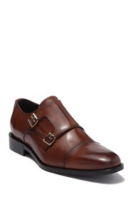 To Boot New York Zane Leather Double Monk Strap Lo