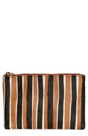 Madewell The Genuine Calf Hair & Leather Pouch Clu