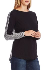 Vince Camuto Refreshed Pinstripe Mix Media Cotton