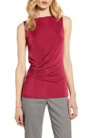 Halogen Pleated Front Tank Top