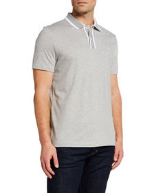Michael Kors Men's Polo Shirt with Framed Collar