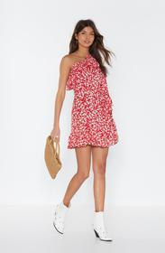Nasty Gal Red Our Options Are Open Floral Dress