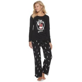 Women's Jammies For Your Families Santa's World To