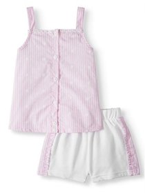 Forever Me Striped Tank Top & Shorts, 2pc Outfit S