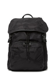 Valentino Leather Trimmed Nylon Camo Backpack