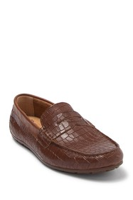 Born Andes Croc Embossed Leather Loafer