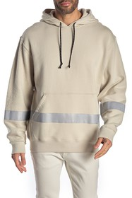 HUDSON Jeans Reflective Stripe Pullover Hoodie