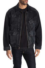 HUDSON Jeans Utility Pocket Zip Denim Jacket