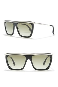 Victoria Beckham 56mm Large Rectangle Sunglasses