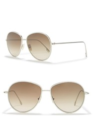 Victoria Beckham 58mm Aviator Sunglasses