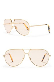 Victoria Beckham 65mm Aviator Sunglasses