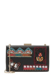 Valentino Embellished Leather Clutch